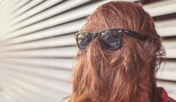 cheveux et lunette